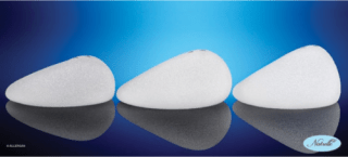 Both round and shaped breast implants come in a range of profiles. Above, the shaped implant line from Natrelle. Source: Natrelle