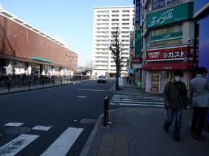 碁盤の目の道(スタート)<最寄駅からの歩き方>