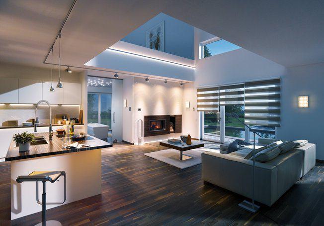 Stilvolle Raumgestaltung durch Lichtdesign im Wohnzimmer  zuhause3de