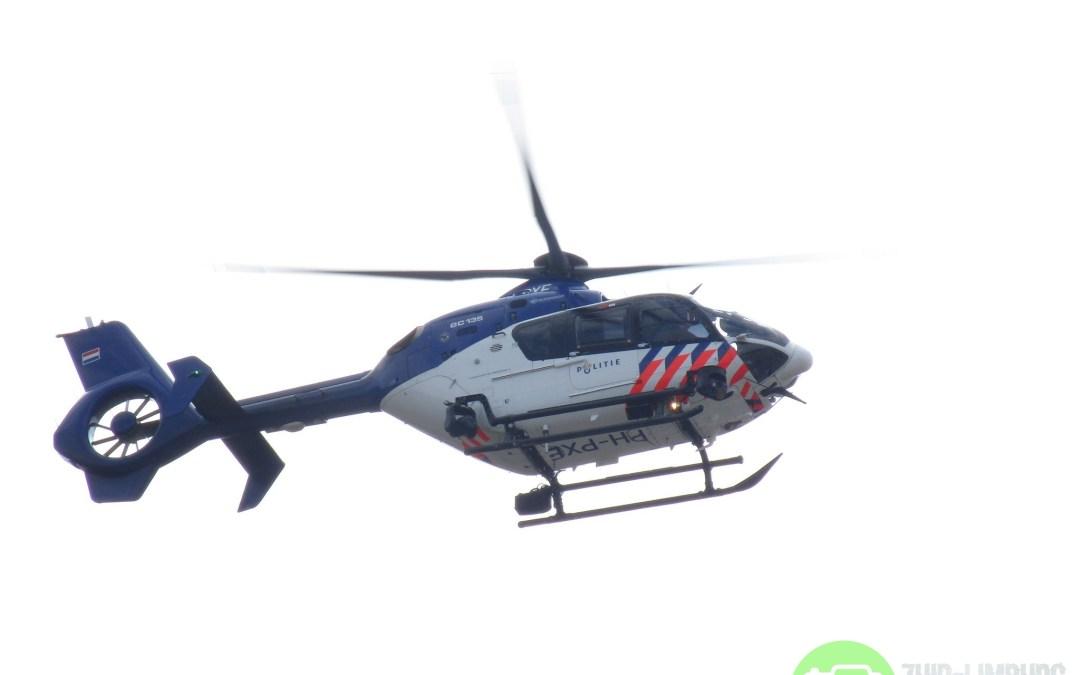 Verdachte aangehouden na grote zoekactie met politiehelikopter