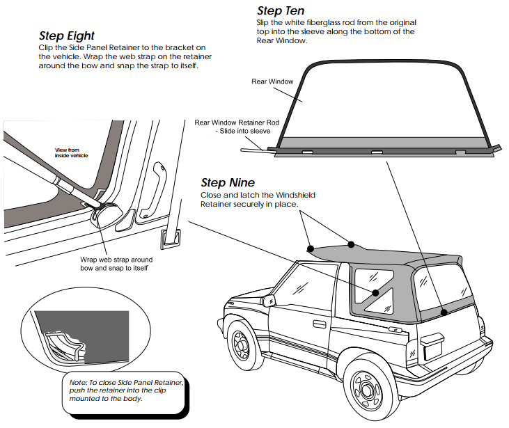 Service manual [How To Remove Headliner 1994 Geo Tracker