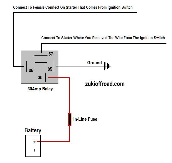 zuki_starter_relay starter motor relay wiring diagram efcaviation com wiring diagram for starter solenoid at mifinder.co