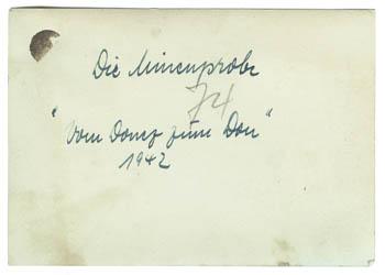 Rückseite des Fotos
