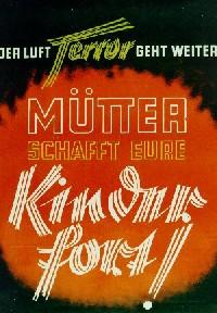 KLV Plakat 1944, Ruhrgebiet.