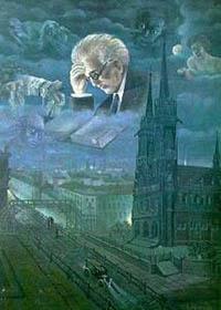 Rumkowski auf einem Ghetto-Gemälde