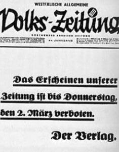 Die letzte Ausgabe der Westfälischen Allgemeinen Volks-Zeitung.