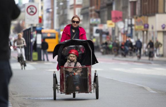 Beförderung von Kindern in Kopenhagen