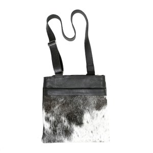 Zulucow cowhide bags leather bags crossbody bag grey & white fashion accessories bags womenswear