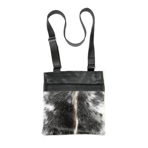 Zulucow cowhide bags leather bags crossbody bag tricolour grey, black & white fashion accessories bags womenswear