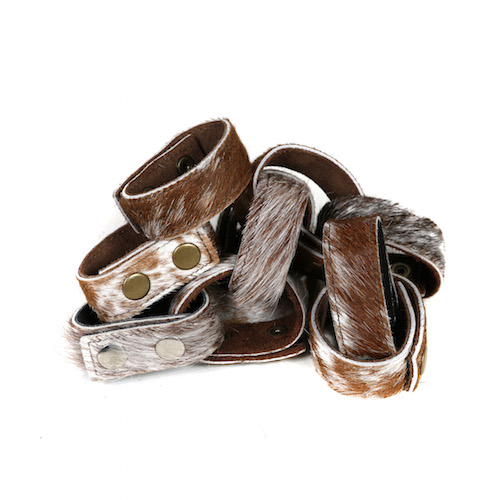 cowhide cuffs brown and white cowhide bracelets, womens accessories