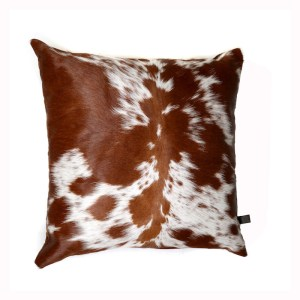 Zulucow Nguni cowhide cushion brown and white scatter cushions home accessories soft furnishings interiors home decor pillows