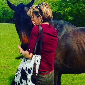 Horses, Burghley Horse Trials, cowhide bag, cowhide slouch bag, leather bag, Zulucow
