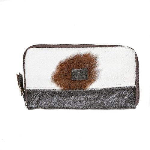 cowhide, clutch, travel wallet, purse, evening clutch, natural leather, artisan made, sustainable fashion, handmade, cowhide clutch