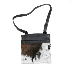 Zulucow Nguni cowhide leather shoulder bag black and white whirl bags womens fashion, animal print bag, sustainably sourced bag