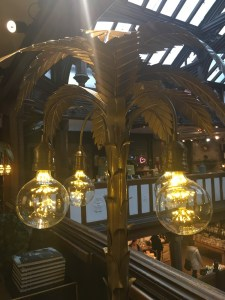 Liberty London, 'Rockett St George' luxury interiors, interior styling, eclectic interiors, standard lamp, palm tree lamp, lighting , funky lights, palm tree lamp stand
