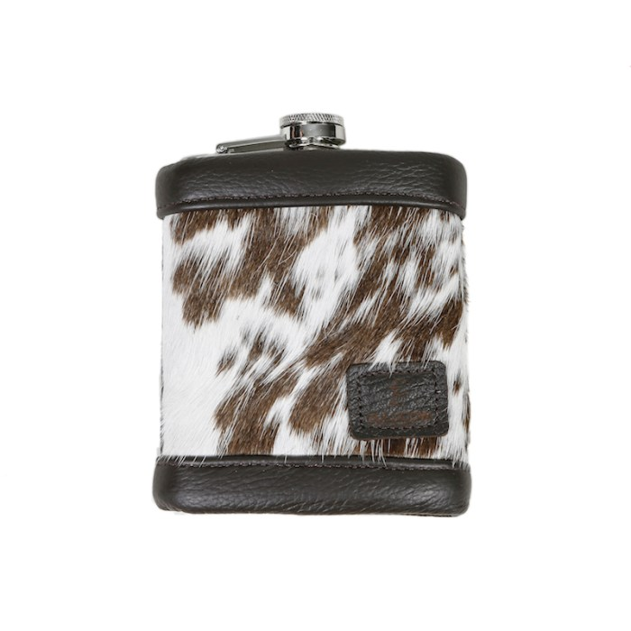 cowhide, natural leather, hip flask, unique, handmade, 8oz hip flask, mens gifts, presents for men, father's day gifts