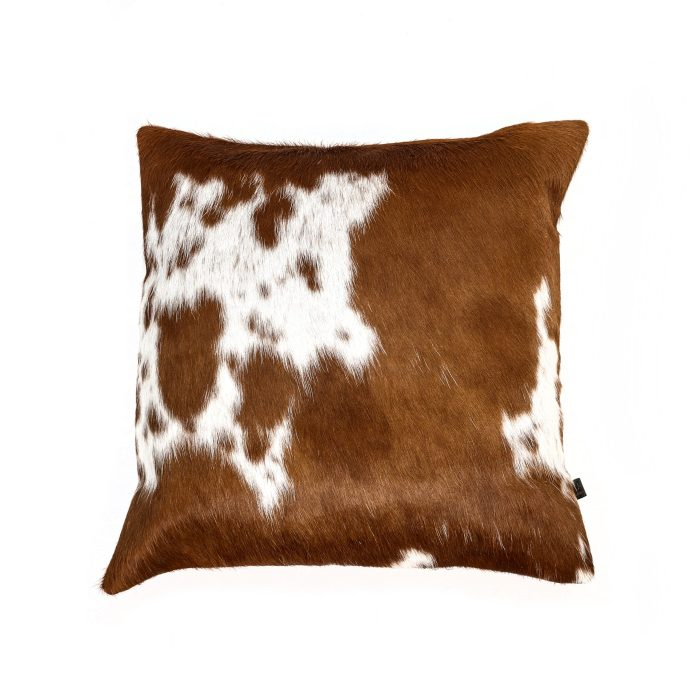 Zulucow Nguni cowhide cushion brown and white scatter cushions home accessories soft furnishings interiors home, sustainable, ethical, handmade