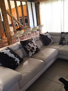 cowhide, home interiors, cushions, zulucow, Nguni, sustainable, ethically made
