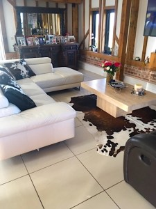 Zulucow, Nguni cowhide rug & cushions, sustainable, ethically made