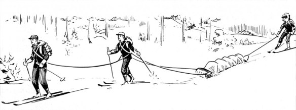 Boy Scout Image Of Toboggan Sled Use
