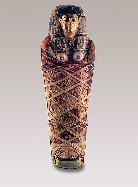 196 Gyptische Mumien Im Landesmuseum W 252 Rttemberg