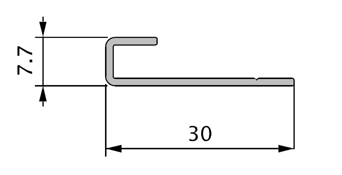profil de depart en alu 70x30 mm 3ml