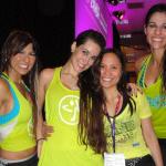 zumba instructor conference Los Angeles 2014 Karla Mead en Priscila Sartori II en Ludmilla Marzano en racquel bulleser