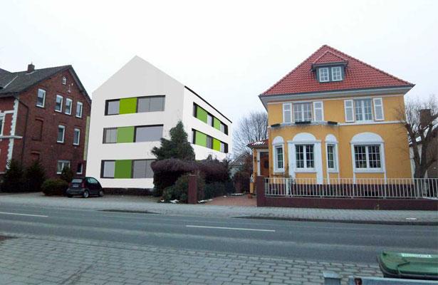 Entwurf Sanierung Mehrfamilienhaus Neuenkirchener Strae in Gtersloh  projekte  AXEL ZUMBANSEN
