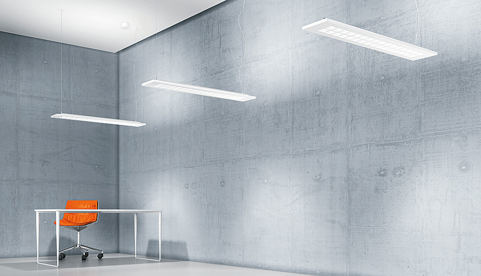 MIREL evolution recessed and surfacemounted LED luminaire