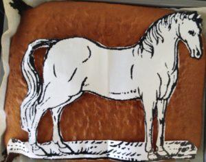 Teig mit Pferdevorlage