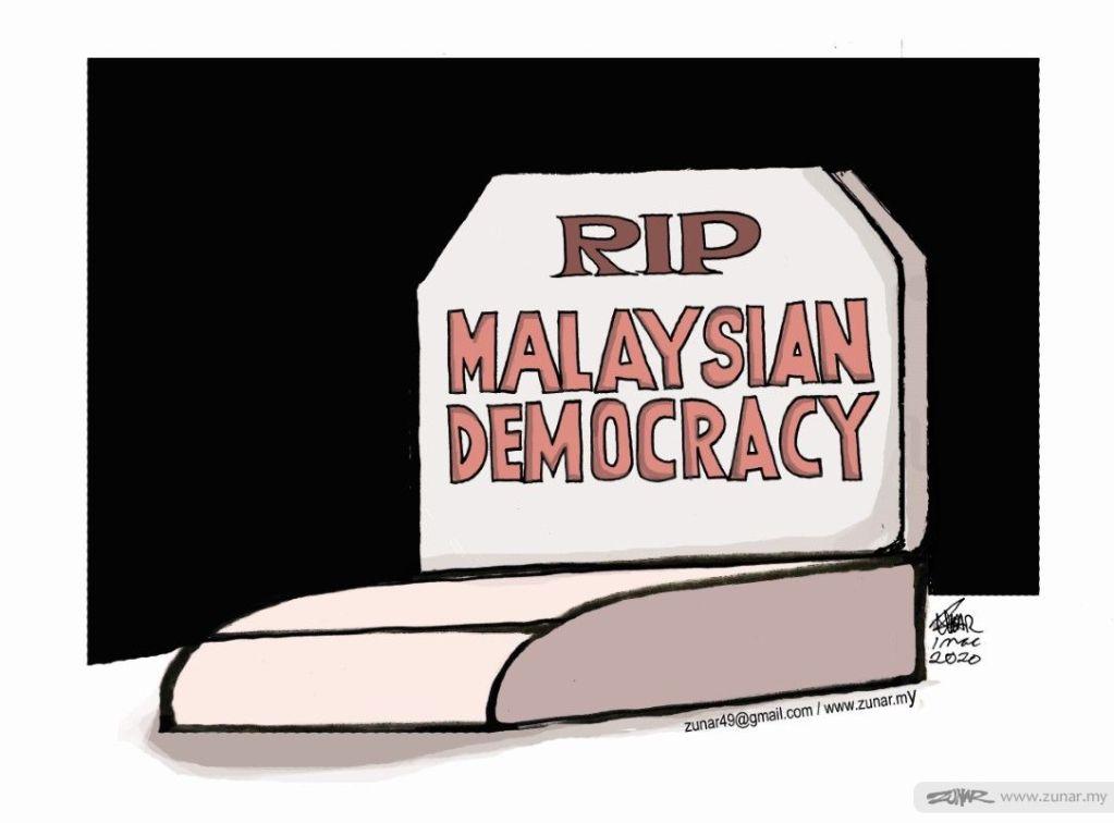 Cartoonkini MALAYSIAN DEMOCRACY 1 Mac 2020 (Custom)