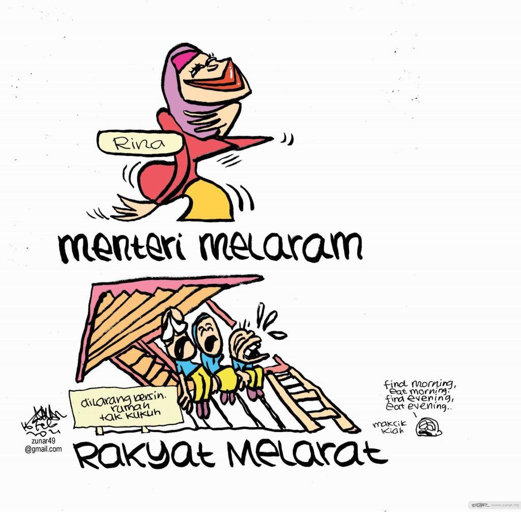 WEB Cartoonkini MENTERI MELARAM 16 Feb 2021 (Custom)