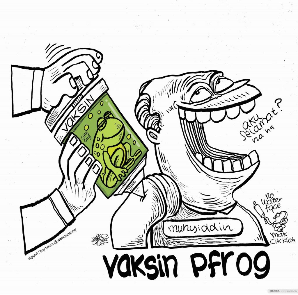WEB Cartoonkini Vaksin Pfrog 1 Mac 2021 (Custom)