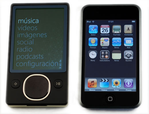 Zune 80GB vs iPod touch