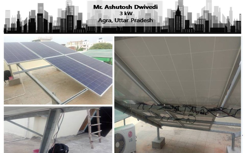 Uttar Pradesh-Mr. Ashutosh Dwivedi ZunRoof Happy Client!