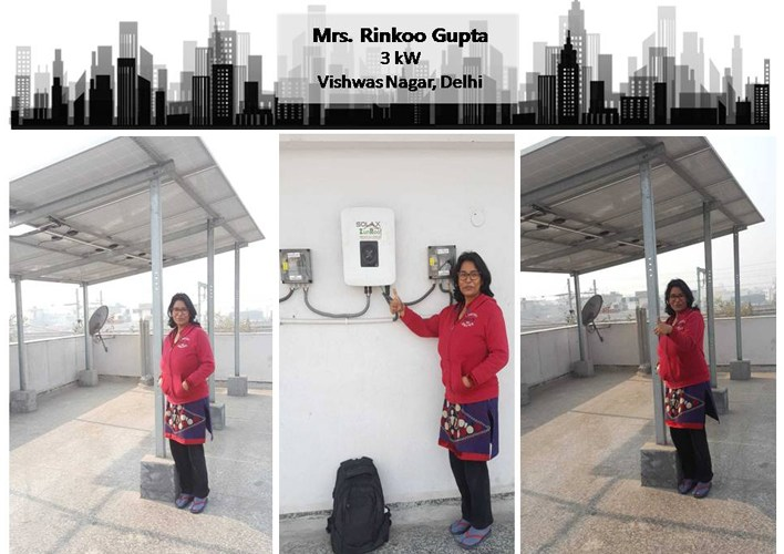 Solar in Delhi–Mrs. Rinkoo Gupta–Happy ZunRoof Client!