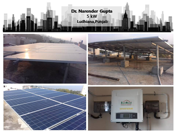 Solar in Ludhiana –Dr. Narender Gupta – Happy ZunRoof Client!