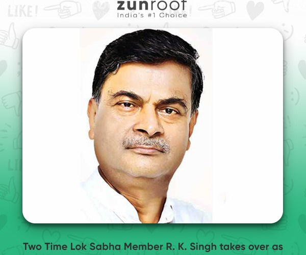 The two time Lok Sabha Member and Bureaucrat-turned-Minister R. K. Singh takes over as Minister of Power with a Focus on 24x7 Power for All Households.