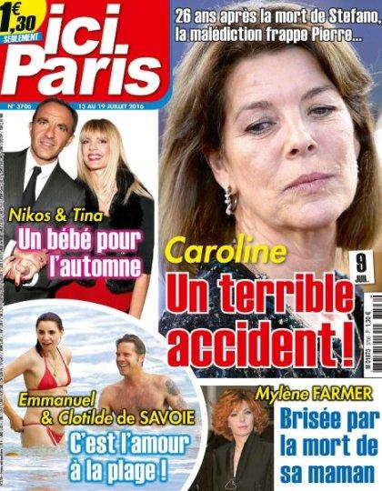 Ici Paris N°3706 - 13 au 19 Juillet 2016