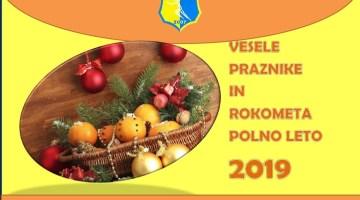 ŽURDO-ve ekipe nadvse uspešno zaključujejo leto 2018 in želijo vesele praznike ter čudovito rokometno leto 2019