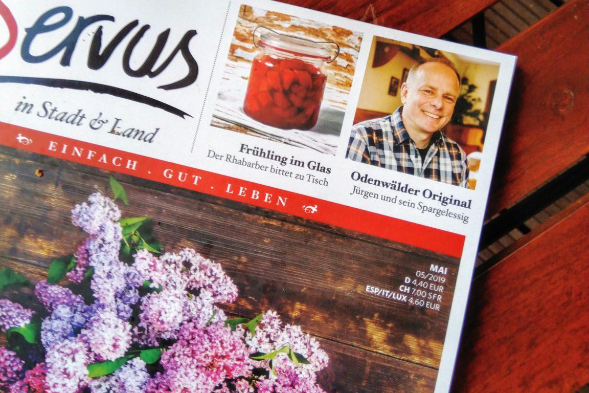 Servusmagazin- Titel Mai 2019 - Essigmanufaktur Zur Freiheit