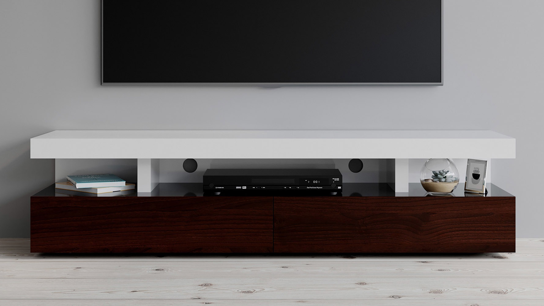 mcintosh tv stand white and ebony