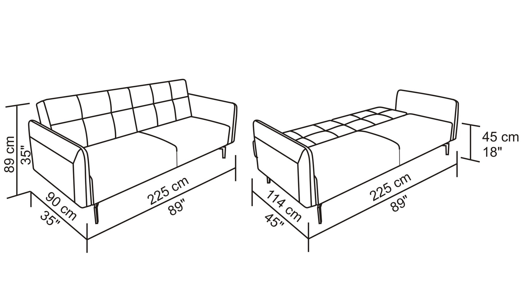 Fold Down Sleeper Sofa