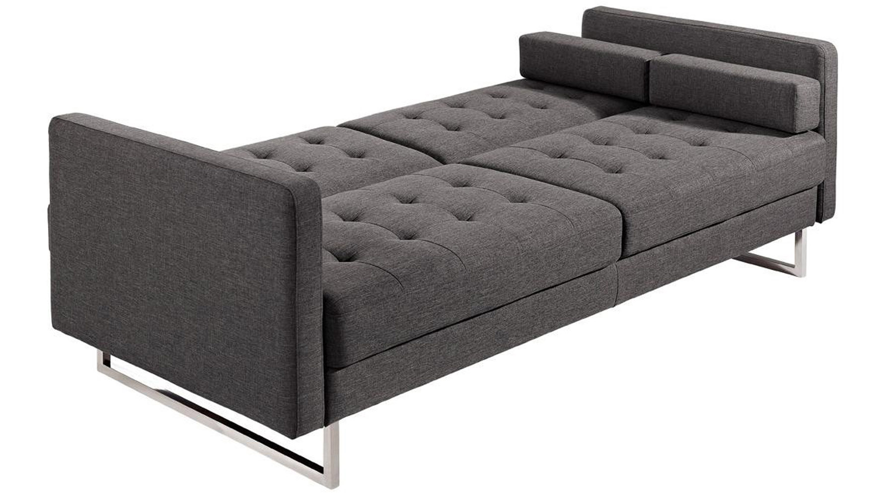 abbie sofa navy standard depth of a table fabric with chrome legs home the honoroak