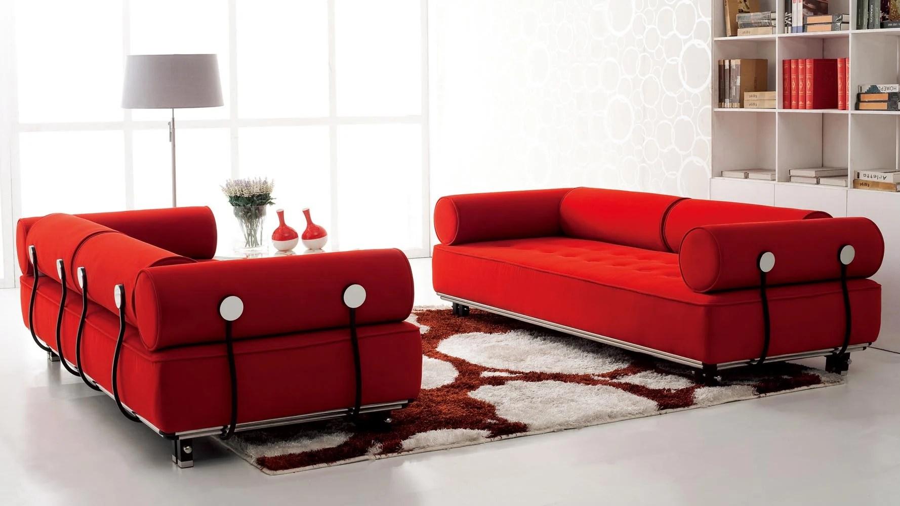 red fabric sofa best chesterfield uk casa sepulveda modern bed