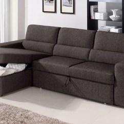 Brown Sectional Sleeper Sofa Gray Chenille Black Clubber Zuri Furniture