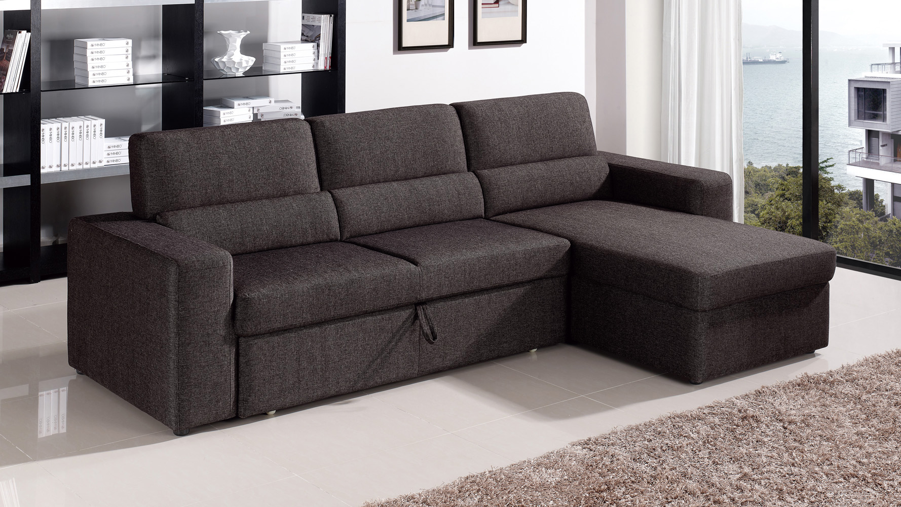brown sectional sleeper sofa free craigslist nj black clubber zuri furniture