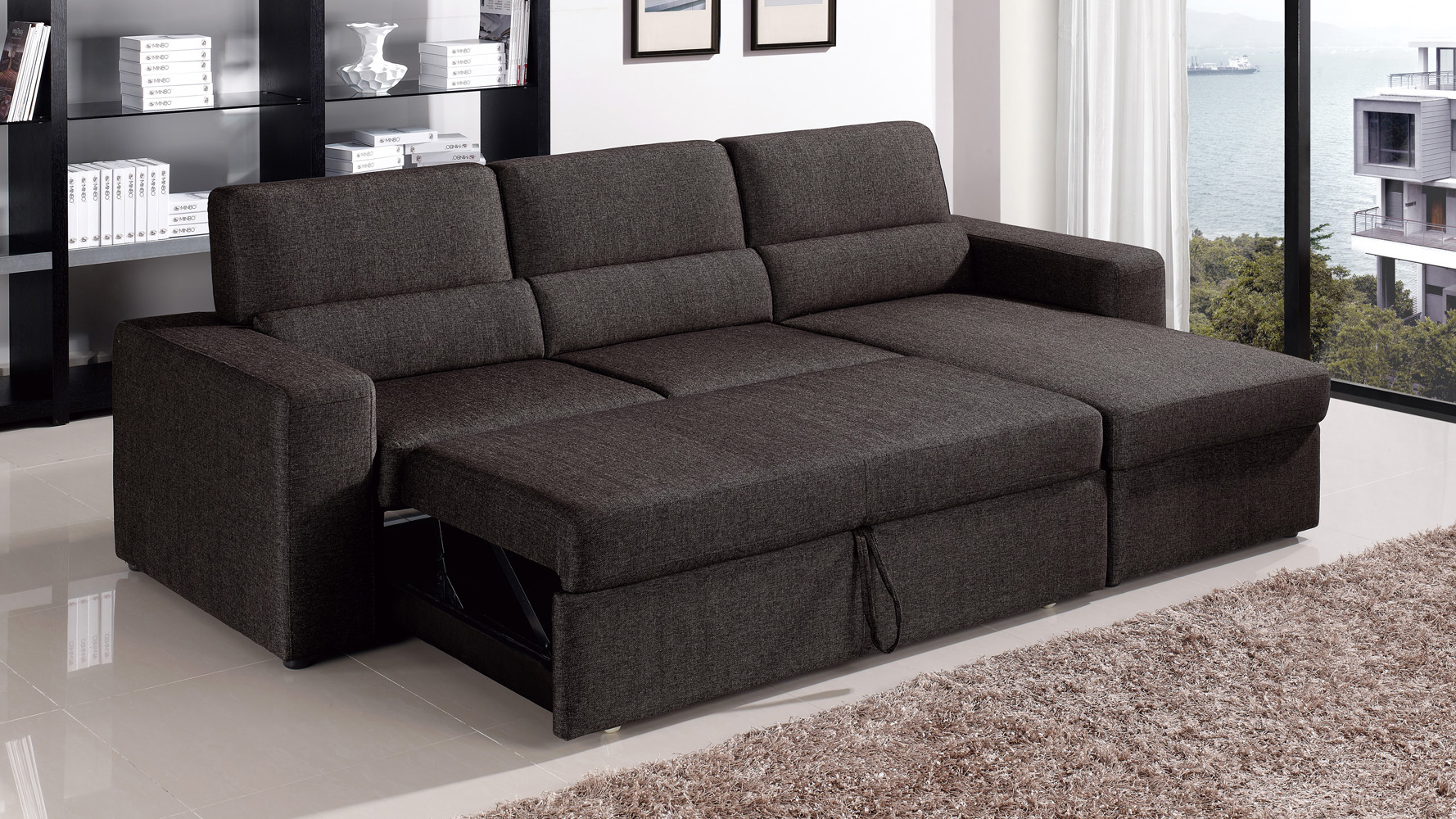 brown sectional sleeper sofa henley collection black clubber zuri furniture