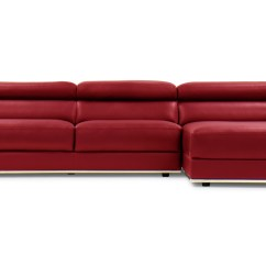 Red Sectional Sofa Chaise Asda Click Clack Bed Brown Encore Leather Zuri Furniture