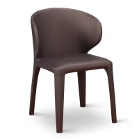 Enzo Modern Dining Chair with Curved Back - Brown | Zuri ...